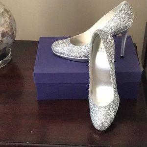 Sparkling Silver Shoes